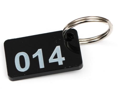 kroužek s číslem na klíče