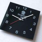 reklamní hodiny s logem Unipetrol