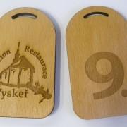 klíčenky pro penzion / hotel