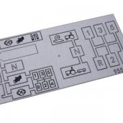 štítek - ovládací schéma