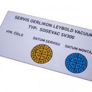 štítek servisní výměny