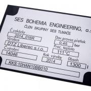průmyslový štítek